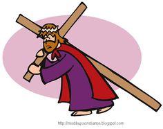 Mis Dibujos Cristianos: Cargando la cruz / Carrying the cross
