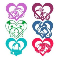 Ring rings in Heart shape SVG Cuttable Designs
