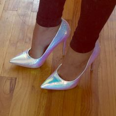 """Super hot pointy heels by viviglam Last Call⚡️⚡️ New super hot silver pointy heels gorgeous one if a kind they are """"5.5 inches tall just gorgeous ❤️Sale Reduced Reduced again firm⚡️⚡️⚡️ Shoe repuplic La Shoes Heels"""