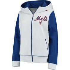 Women's New York Mets G-III 4Her by Carl Banks White Franchise Full-Zip Hoodie