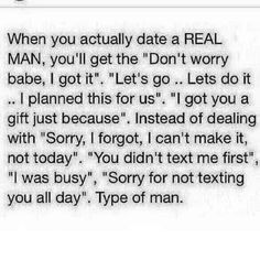 Dating a real man changes everything.