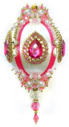 Dazzling Christmas Ornament  Pink/Crystal/Pearl di sparklements
