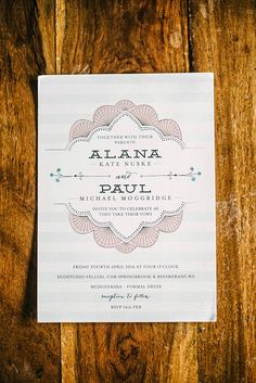 We love beautiful stationery... especially this little piece from Alana and Paul's Ecostudio Felini wedding.  #weddingphotographer #weddingphotography #goldcoast #stationery