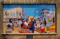 san antonio street murals   mural displaying the once-lively street life in the neighborhood ...