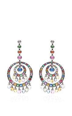 Multi-Colored Scheherazade Earrings by Nam Cho