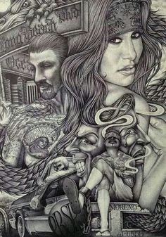 Wings Tattoo Ideas And Their Meanings Chicano Drawings, Chicano Tattoos, Sexy Tattoos, Art Drawings, Gangster Tattoos, Skull Tattoos, Drawing Art, Sleeve Tattoos, Arte Cholo