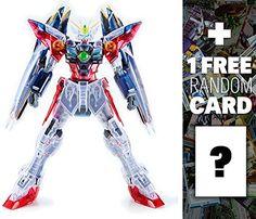 XXXG-00W0 Wing Gundam Proto Zero EW Clear Color [The Art of Gundam Exclusive]: MG Gundam Master Grade 1/100 Model Kit + 1 FREE Official Gundam Japanese Trading Card Bundle