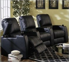 Best Buy Magnolia Home Theater Seating - Row of 3 Seats in Fabric with Manual Recline...CLICK for more detail...FREE Shipping on order over $25