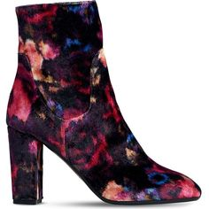 Lk Bennett Pellino floral-print heeled ankle boots (455 AUD) ❤ liked on Polyvore featuring shoes, boots, ankle booties, faux-leather boots, floral-print boots, leather booties, high heel boots and high heel booties