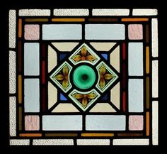 c.1900 stained glass window