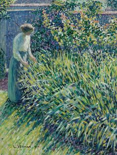 Louis Ritman (1889-1963) - Lady in a Garden, 1918