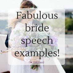 Fabulous Bride Speech Examples