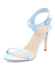New Look ladies shoes - sandals, wedges, boots, high heels and more. Pale Blue Shoes, Baby Blue Heels, Green Heels, Fancy Shoes, Cute Shoes, Ankle Strap Heels, Ankle Straps, Splendid Shoes, Shoe Boots