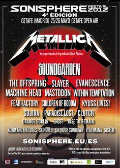 Sonisphere 2012 Cartel Spain