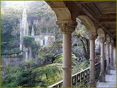 Quinta da Regaleira Sintra - Portugal - (Looks like a real-life Rivendell! Sintra Portugal, Ericeira Portugal, Visit Portugal, Spain And Portugal, Portugal Travel, Portugal Trip, Places Around The World, The Places Youll Go, Places To See