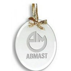 Clear Oval Ornament