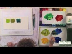 How to Mix Natural Looking Greens with Susan Crouch - YouTube