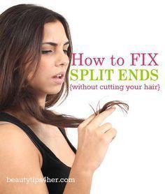 Comment se débarrasser des pointes fourchues sans se couper les cheveux Comment réparer les