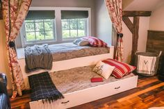 Kids' Rustic Room With Bunk Beds and Barn Door | Fresh Faces of Design | HGTV