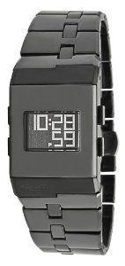 Kenneth Cole New York Women's KC4737 Digi-Tech Digital Roller-Ball Black Ceramic Bracelet Watch