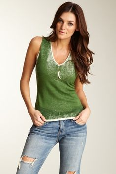Bask Atelier  Acid Washed Sweater Tank