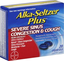 Alka-Seltzer Plus Severe Sinus Congestion & Cough Liquid Gels   $7.79