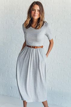 Sandra Dee Dress in Grey