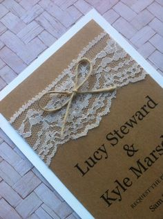 656c3b8ac5 Rustic lace wedding invitation design. Make sure you like us on facebook  for more great designs. Www.facebook.com/invitationdesigncompany ...