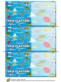Cartes d'invitation avec des décorations marines, à imprimer. Printable Invitations, Printables, Kids Rugs, Pretty Cards, Paper Mill, Home, Kid Friendly Rugs, Print Templates, Nursery Rugs