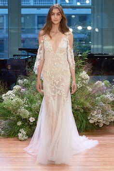 Wedding gown by Monique Lhuillier.