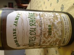 2009 Domaine Jamet Cotes du Rhone Blanc: stony, lemon, white flowers, minerals, hint of toast & vanilla