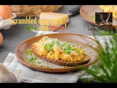 Scrambled eggs bacon chive, parmesan cheese, delicious recipe from Creative kitchen, very simple recipe from scratch, cheap and delicous meal. Recipe From Scratch, Bacon Egg, Scrambled Eggs, Parmesan, Easy Meals, Channel, Yummy Food, Cheese, Creative