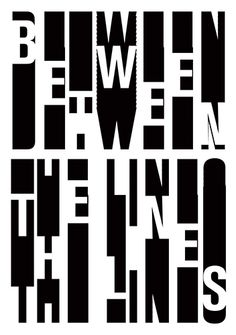 Between The Lines; Typography Day Poster Design Competition