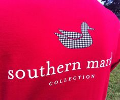Our most popular shirt featuring the Southern Marsh mallard silhouette logo on the back and our authenticlogo on the front...