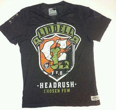 New Headrush Chuck Liddell Iceman SHIELD UFC Premium Men Black T-Shirt SZ Large #Headrush #GraphicTee