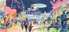 Concept for Paramount Park with MTV & Star Trek