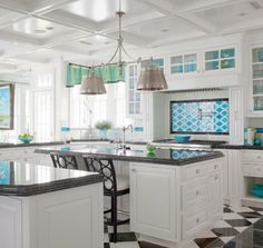 Designed by Caroline Beall Bracket of CBB Interiors out of Charlotte, North Carolina, this beautiful beach home is all about turquoise...beautiful, watery, yummy