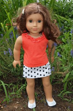 American Girl Doll Clothes  Skirt Outfit  by AbygailElizabeth, $11.00