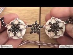 Superduo beads necklace: superduo necklace with mother of pearl discs   Beaded Jewellry