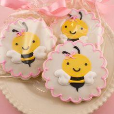 Bumble Bee Sugar Cookie Favors 12 Cookies Bagged Bowed