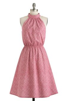 One Bright Bushel Dress, #ModCloth-- Upon awaking this fair morning, you're inspired by the delicious raspberries that brighten up your daily serving of oatmeal to dress in a frock that is both vibrant and flavorful!