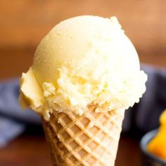 3 Ingredient Mango Coconut Vegan Ice Cream (Paleo, Dairy-Free, GF, Vegan) - Beaming Baker