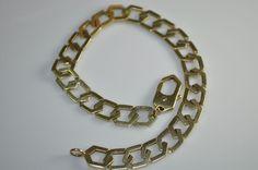 "Vintage Estate UnoAErre Arezzo Italy Mens 14K Gold 8MM Link Bracelet 8.5"" 17.8g #UnoAErreArezzo #LinkChain"