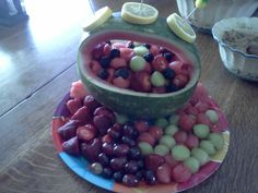 mothers day fruit basket ..we all had to bring a salad as a side..fruit or veggie or pasta and this is what i made