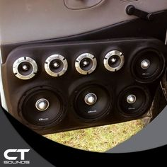 A Custom Door Panel with CT Sounds Pro Audio Series Speakers and Tweeters  #CTSounds #ProAudio #custom Custom Truck Beds, Custom Trucks, Custom Cars, Pro Audio Speakers, Custom Car Audio, Custom Car Interior, Dodge Magnum, Car Audio Systems, Music System