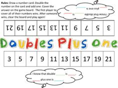 A Spoon Full of Sugar: Doubles Math Games