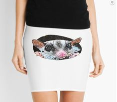 Funny rat Mini Skirt Funny Rats, Cotton Tote Bags, Chiffon Tops, Classic T Shirts, Mini Skirts, Tees, How To Wear, Stuff To Buy, Dresses
