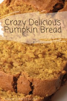 Crazy Delicious Pumpkin Bread These Best Ever Starbucks Pumpkin Scones are everyone's favourite fall treat for pumpkin season! And they taste even better than Starbucks' Pumpkin Scones! Köstliche Desserts, Delicious Desserts, Dessert Recipes, Yummy Food, Plated Desserts, Healthy Desserts, Starbucks Pumpkin Bread, Easy Pumpkin Bread, Pumpkin Zucchini Bread