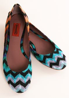MISSONI Chevron Flats <3