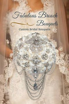 Elegant Cascading Brooch Bouquet, Cascading Brooch Bouquet, Wedding Bouquet
